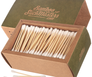 Biodegradable Eco Friendly Bamboo Cotton Buds – 300 Pack, an item from the 'Sustainable Beauty' hand-picked list