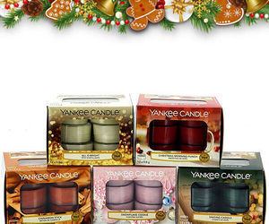 4 X BOXES YANKEE CANDLE FESTIVE SEASON TEALIGHT COLLECTION (48 CANDLES), an item from the 'Valentine's Day Perfect Gift' hand-picked list