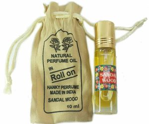 Natural Hanky Perfume Attar oil Sandalwood Fragrance 10 ml Made in india FS, an item from the 'Sustainable Beauty' hand-picked list