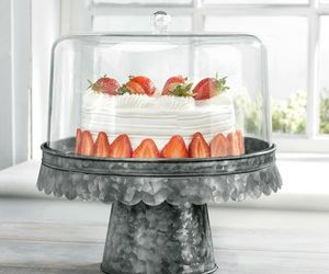 "FIDDLE & FERN 12""D ACRYLIC CAKE DOME/BLACK GALVANIZED BASE, an item from the 'Life is a Cake and Love is the Icing on Top of it.' hand-picked list"