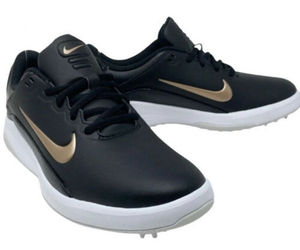 NIKE Women's 9.5 Vapor Golf Shoes Black/White/Bronze, an item from the 'Golf Essentials' hand-picked list
