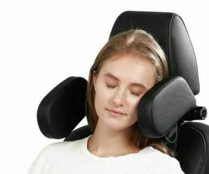 Car seat headrest neck support soft pillow adult child leather sleep kids Travel, an item from the 'Travel Must-Haves' hand-picked list