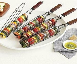 Portable Bbq Grilling Basket Stainless Steel Nonstick Barbecue Grill Basket Tool, an item from the 'Father's Day Finds' hand-picked list