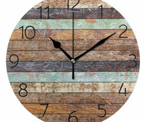 "Nice Wall Clock 9.8"" Colorful Vintage Wooden Style Rustic Shabby Chic Farmhouse, an item from the 'It's TIME to Spring Forward' hand-picked list"