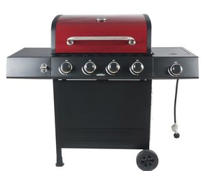 BBQ Gas Grill Outdoor Propane Stainless Steel Barbecue Side Burner 4 Burner, an item from the 'Grill Power' hand-picked list