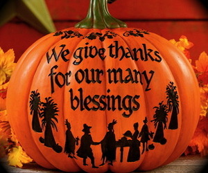"""""""Give thanks"""" Pumpkin Blessings Thanksgiving harvest Fall Autumn Home decor , an item from the 'Fall Table Decor' hand-picked list"""