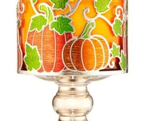 BATH BODY WORKS PUMPKIN PATCH VINE PEDESTAL LARGE 3 WICK CANDLE HOLDER SLEEVE, an item from the 'Pumpkin Patch' hand-picked list