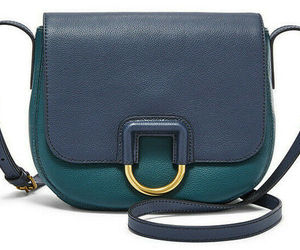 Fossil Stella Crossbody Teal / Dark Navy Leather Bag SHB1960403 NWT MSRP FS, an item from the 'Handbags for Her' hand-picked list