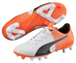 Puma Kids Evospeed 5.5 Tricks FG Cleated Soccer Shoe Orange 5 #NGR2K-M376, an item from the 'Youth Soccer Gear' hand-picked list