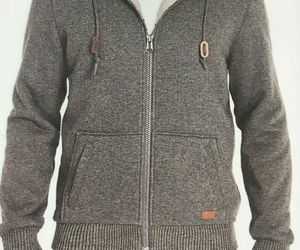 Buffalo David Bitton Men's Sherpa Lined Full Zip Hoodie, GREY, S , an item from the 'Sherpa and Fleece Hoodies' hand-picked list