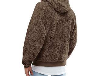 Men's Fluffy Fleece Winter Warm Coat Hoodie Hooded Jacket Casual Sweatshirt, an item from the 'Sherpa and Fleece Hoodies' hand-picked list