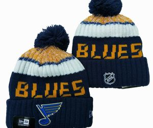 NEW ERA NHL St Louis Blues On field Sideline Beanie Winter Pom Knit Cap Hat, an item from the 'Community Picks: St. Louis Blues' hand-picked list