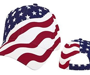 American Flag Cap Patriotic Hat Red White and Blue Stars and Stripes, an item from the 'Memorial Day - A Time to Remember' hand-picked list