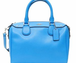 Coach Women's Crossgrain Leather Silver/Azure Mini Bennett Satchel Bag F36624, an item from the 'Handbags for Her' hand-picked list