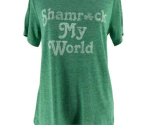 "Grayson/Threads Green ""Shamrock My World"" St. Patricks Day T-Shirt Size Medium, an item from the 'St. Patrick's Day' hand-picked list"