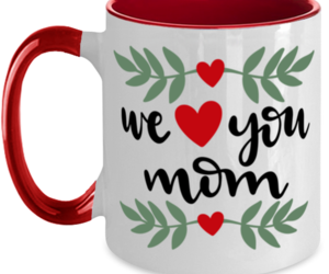 We Heart You Mom, Mother's Day - 11 oz Red Two-Tone Coffee Mug , an item from the 'Mugs for Moms' hand-picked list