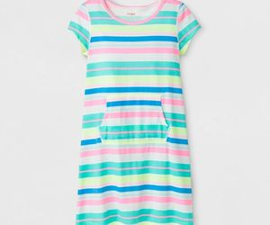 2-PACK Cat & Jack Girls' Adaptive Knit Stripe Dress, Rainbow, Large (10/12) NWT, an item from the 'Adaptive clothing for disabilities' hand-picked list