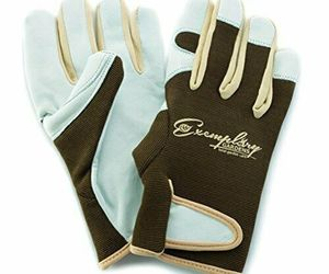 Leather Gardening Gloves for Women and Men. Adjustable Fastener and X-Small, an item from the 'Garden Tools' hand-picked list