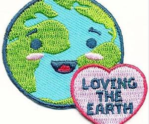 Cub Girl Boy LOVING THE EARTH Embroidered Iron-On Fun Patch Crests Badge Scout G, an item from the 'Earth Day... Recycle, Reuse, Reduce' hand-picked list