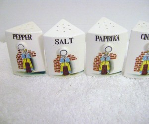 Vintage Set of Ceramic Spice Jars , an item from the 'The Spice is Right' hand-picked list