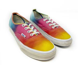 Vans Colorimetry Rainbow Tie-Dye Lace Up Low Top Skate Sneaker Mens 6 Womens 7.5, an item from the 'Summer Sneaks' hand-picked list