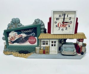 Vintage!! Coca-Cola Coke Clock Sign * Gas Station * Burwood 3130 1990, an item from the 'It's TIME to Spring Forward' hand-picked list