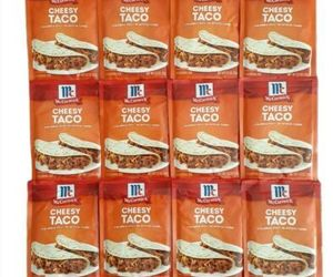 12 McCormick Cheesy Taco Seasoning Mix Spice Packets Real Cheese lot pack 2022, an item from the 'Every Day is Taco Tuesday if You Try Hard Enough' hand-picked list