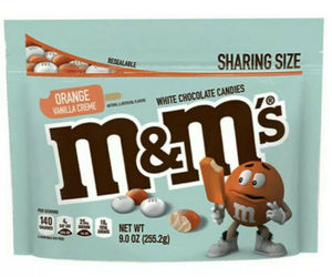 M&M's Orange Vanilla Creme Cream Flavor 9oz Bag - Limited Edition, Exp 12-21, an item from the 'Orange Dreamsicle Dreams' hand-picked list