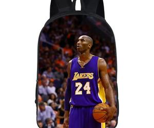 NBA Basketball Lakers 24 Kobe Bryant 3d Print Backpack School Sports Bag, an item from the 'It's in the Bag - Backpacks' hand-picked list