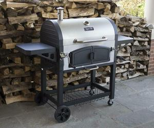 Charcoal Grill BBQ Barbecue Dual Chamber Steel Outdoor Cooking Patio Backyard, an item from the 'Grill Power' hand-picked list