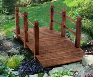 Decorative Wood Home Garden Pond Yard Arch Bridge Walkway 4.9ft., an item from the 'Ponds and Water Features' hand-picked list