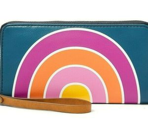 Fossil Jori RFID Zip Clutch Navy Wallet Twilight Wristlet SWL2461497 NWT FS, an item from the 'Cute Clutches' hand-picked list