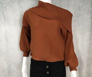 Burnt Orange chunky Cowl Multiuse Sweater, an item from the 'Fabulous Fall Fashions' hand-picked list