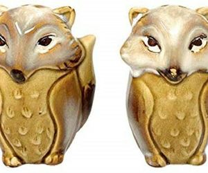 Foxes Salt and Pepper Shakers Beige Ceramic Natures Home, an item from the 'Community Picks: Invite An Animal to Your Table' hand-picked list