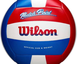 Wilson Match Point Volleyball Red White Blue, an item from the 'Community Picks: Sporty Dad' hand-picked list