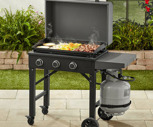 Gas Griddle Outdoor Grill Cooking BBQ Portable Propane Flat Cook Top Burner 28in, an item from the 'Grill Power' hand-picked list