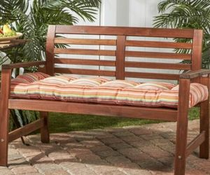 Watermelon Stripe Outdoor Bench Cushion Kensinginton Garden Target NWOT, an item from the 'Outdoor Oasis' hand-picked list