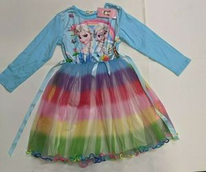 NWT SINY Baby Girl's Elsa Frozen Dress, Dress Sized for 1st Grader (6-7 years), an item from the 'Spring Wear' hand-picked list