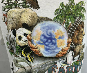 Vintage Earth Day T Shirt Single Stitch World Wildlife Tee 80s 90s XL USA, an item from the 'Earth Day... Recycle, Reuse, Reduce' hand-picked list