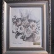 Flower print framed silver thumb175
