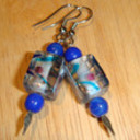 Earrings blue painted 1   copy thumb128