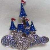 Disney where dreams castle swarovki pin front thumb175
