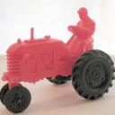 Toy tractor by  barr rubber co 1950s thumb128