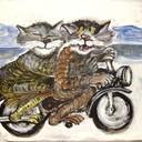 Biker cats thumb128