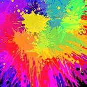 Colourful bright ink splat design vector thumb175