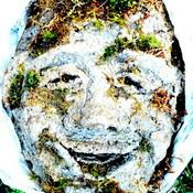 Hypertufa man w moss cath 1 darker thumb175