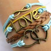 5 pcs bracelet karma bracelet heart bracelet love bracelet infinitywish bracelet z293 thumb175