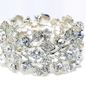 Bridal swarovski crystal vine stretch bracelet  wedding bracelet  wedding  diamante jewellery bracelets  65993 view0 thumb175