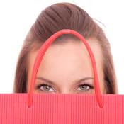 Girl with shopping bag thumb175