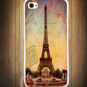 Effeil tower paris stamp sunset 1 thumb175